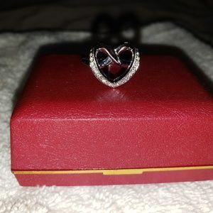 Swarovski Sterling Silver heart shaped ring